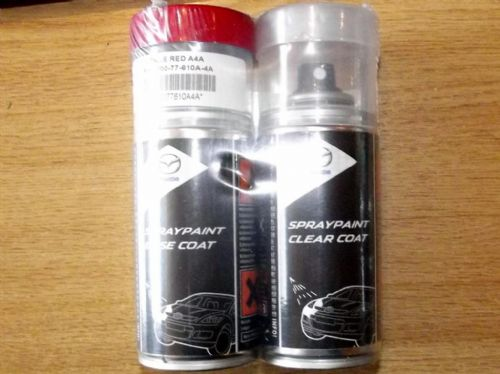 Paint spray kit, genuine Mazda, A4A, True Red